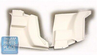 Pair Trans Am Lower Rear Arm Rest Panels White Firebird 1970-81 Camaro