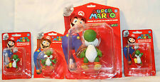 "SUPER MARIO YOSHI 2"" KEYCHAINS, 2.5"" MINI ACTION FIGURE & 5"" ACTION FIGURE NEW"