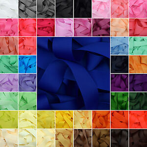 Grosgrain-Ribbon-1-3-or-5-Metre-Cut-of-50mm-2-034-in-64-Plain-Solid-Colours