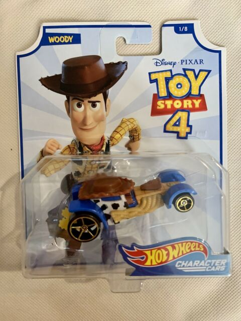 Hot Wheels 2019 Woody Gcy53 Toy Story 4 Character Cars 1//8 Gcy52 Disney for sale online