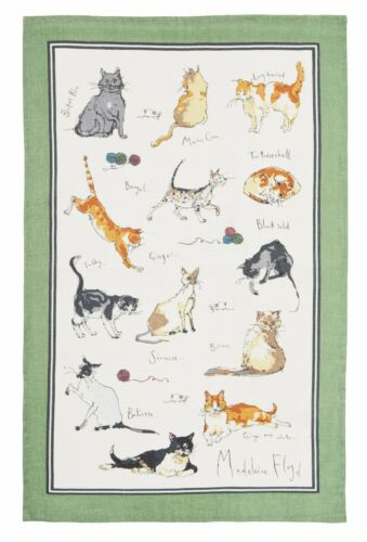 Ulster Weavers Madeleine Floyd Cats Linen Tea Towel *PACK OF 2*  Cat Lovers Gift