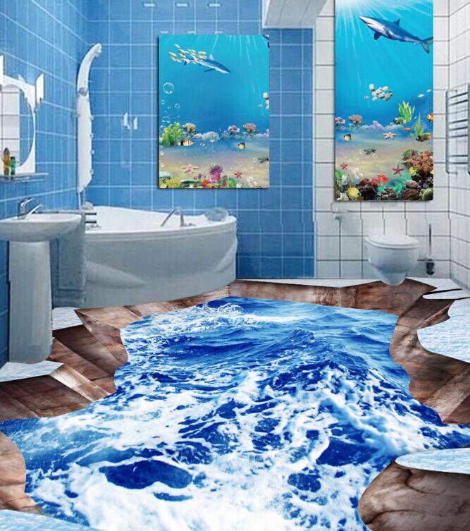 3D oceano terreno onda Pavimento Foto Wallpaper Murales Muro Stampa Decalcomania