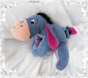 Confiant Doudou Peluche Bourriquet Bleu Ventre Violet Oreilles Fushia Nicotoy Disney