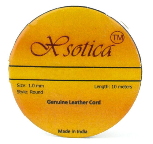 Xsotica® Royal Blue Natural Dye Round Leather Cord 1.0mm 10 meters 11 yards