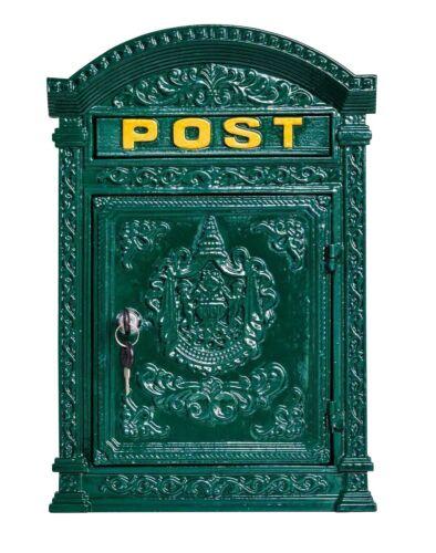 Briefkasten Wandbriefkasten Eisen massiv Nostalgie Postkasten grün Antik-Stil