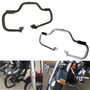 """Mustache Chrome 1 1//4/"""" Highway Engine Guard Crash Bar For Harley Dyna Low Rider"""