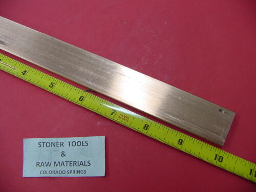 "1//4/""x 1/"" C110 COPPER BAR 10/"" long Solid Flat Bar .25/"" Mill Bus Bar Stock H02"