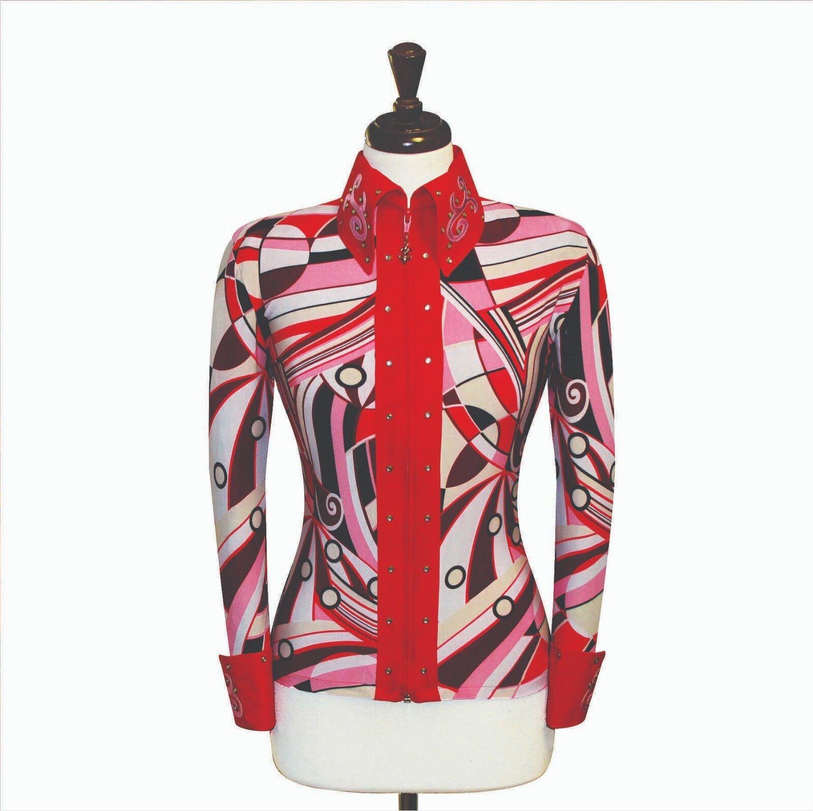 2X-Grande  teatralidad placer Equitación Chaqueta Camisa Rodeo Reina Traje de carril