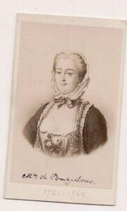 Vintage-CDV-Madame-de-Pompadour-Mistress-King-Louis-General-E-Desmaisons-Photo