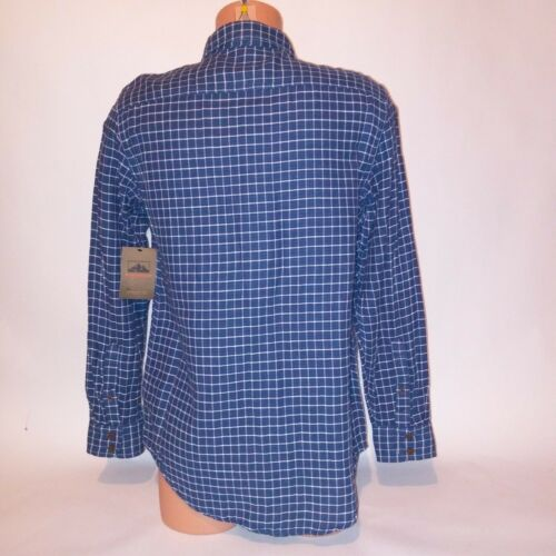 Northwest Territory Mens Button Down Shirt Medium Blue Plaid Long Sleeve NEW