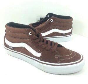 VANS Sk8 Hi Mid Pro Cappuccino/white Men's Classic Skate Shoes Size 8