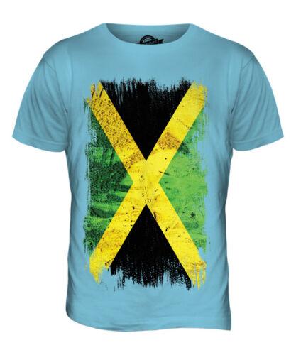 JAMAICA GRUNGE FLAG MENS T-SHIRT TEE TOP JAMAICAN SHIRT FOOTBALL JERSEY GIFT