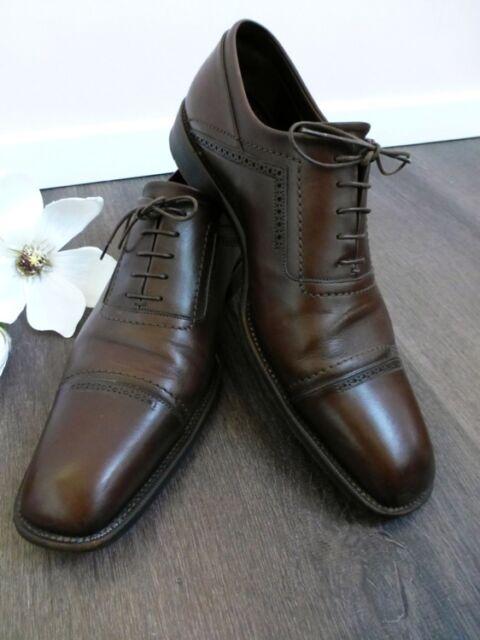 LOUIS VUITTON ★ Original Luxus Business Schuhe Schnürschuhe braun 10 44 NP480€