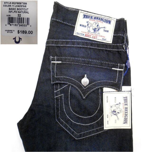 17975e50cff True Religion Mens Lonestar Basic Bootcut Jeans M2F858TSM Various ...