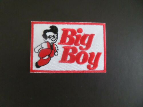 "BIG BOY RESTURANTS/"" RED /& WHITE  Embroidered 2 x 3 Iron On Patch"