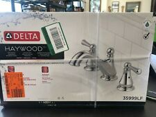 Delta Haywood Two Handle Widespread Bathroom Faucet In Chrome 35999lf For Sale Online Ebay