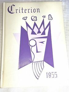 Vintage 1955 CRITERION YEARBOOK Bridgeport Ct. Central Highschool Collectible