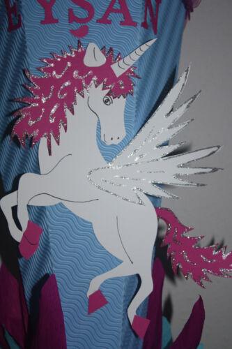 Einschulung Neu /& Handarbeit !!! XXL Einhorn Schultüte Zuckertüte