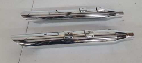 "Khrome Werks HP 3/"" Slash Cut Mufflers for 2005-06 FLSTN"