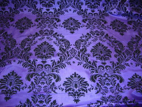 25ft Purple Flocking Damask Aisle Runner Taffeta Fabric 58 Flocked Velvet