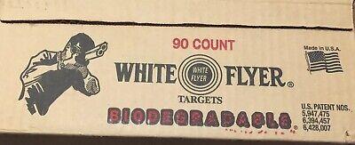 White Flyer Blackout Trap and Skeet Targets 90ct Orange for sale online