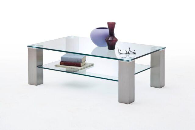 Glastisch Asta II Couchtisch Glas Wohnzimmertisch rechteckig 8873