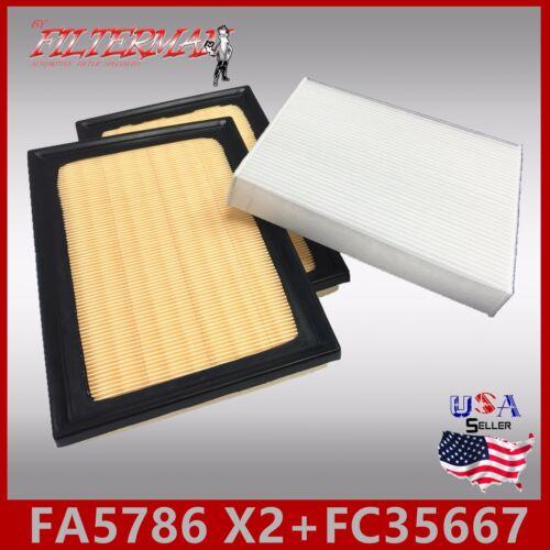 x2pcs FA5786 2007-2017 LS460 FC35667 VA-309 VCA-1031 ENGINE /& CABIN AIR FILTER