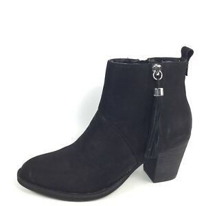 e2fab08fa29 Steven By Steve Madden Beti Womens Size 5.5 B Black Nubuck Heel ...