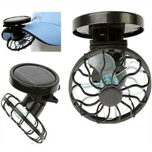 Portable Sun Solar Powered Cooling Fan Clip On Mini Solar