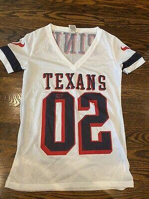 PINK Victoria's Secret HOUSTON TEXANS XS White Jersey Women Knit Top NFL $58   eBay