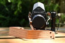 Mamiya Rb67 Pro-S w 127mm f/ 3.5 lens, Left- Hand Grip, Prism and Original Strap