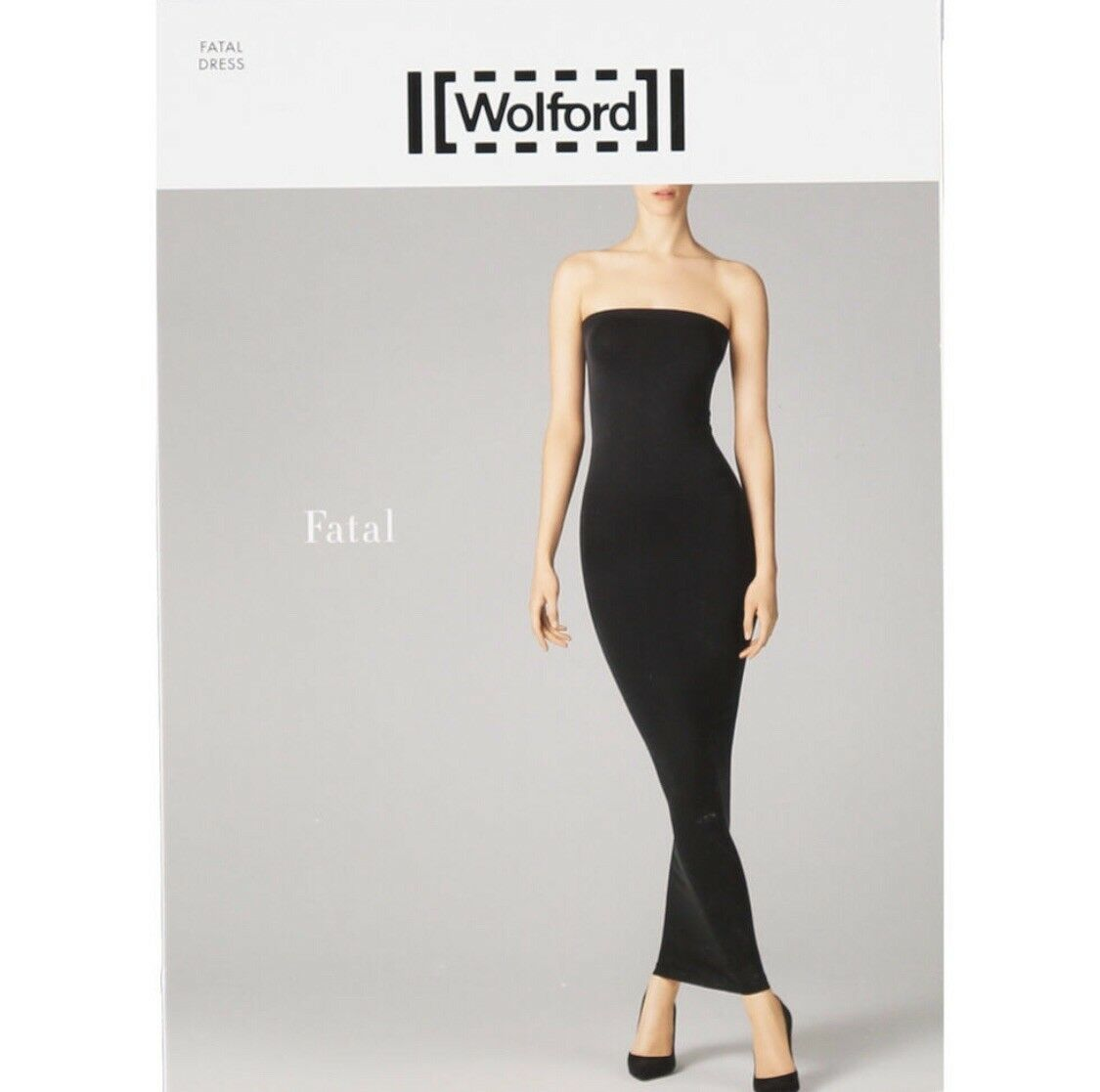 Wolford Fatal Dress in Sun Yellow - Bodycon Tube Strapless Dress - Large UK16-18