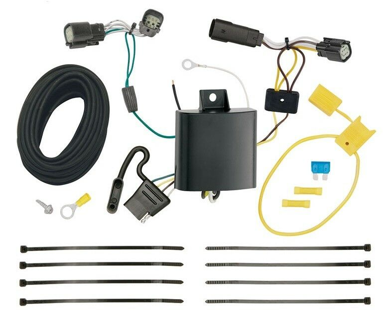 Trailer Wiring Harness Kit For 2015-2018 Ford Edge SE and SEL Models on dog harness, obd0 to obd1 conversion harness, pet harness, radio harness, oxygen sensor extension harness, pony harness, cable harness, battery harness, nakamichi harness, amp bypass harness, suspension harness, maxi-seal harness, safety harness, alpine stereo harness, electrical harness, engine harness, fall protection harness,