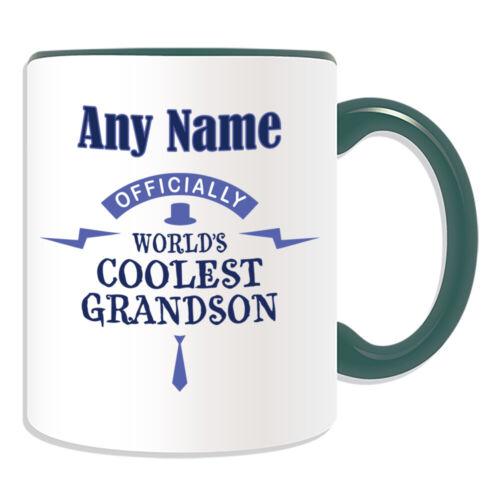 Personalised Gift Cool Grandson Mug Cup Birthday Christmas Name Text Him Her Kid