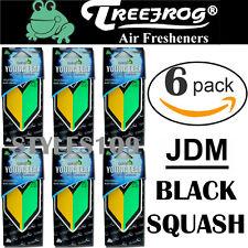 6 PACK Wakaba Japan Treefrog Young Leaf Black Squash Scent JDM Air Freshener