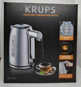 KRUPS-BW710D51-Stainless-Steel-Double-Wall-Electric-Kettle-NEw-in-OPEN-Box