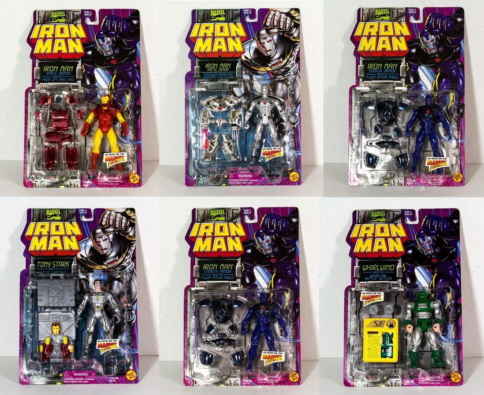 IRON MAN - TONY STARK Collection 6 Vintage Action Figures Toy Biz 1994 Marvel