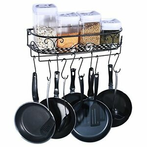 Hanging Pot Holder Pan Hanger Cookware Hook Rack Iron