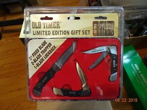 Schrade Old Timer 3 Piece Collectors Limited Edition Knife