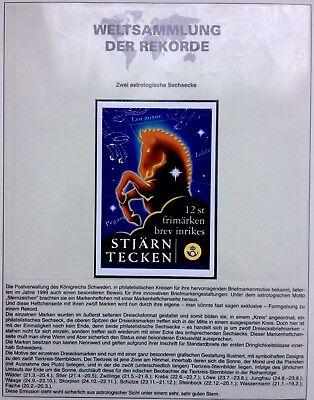 Briefmarken Sweden 1999 Zodiac Signs Booklet Sternzeichen Kompletter Zd Tierkreiszeichen Mnh SchüTtelfrost Und Schmerzen
