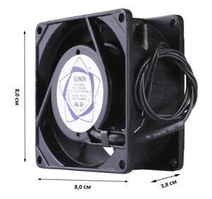 Luefter-80x80x38-mm-230V-Sunon-SF23080A-2083HSL-Gehaeuse-Luefter-Fan-Kuehler-Cooler