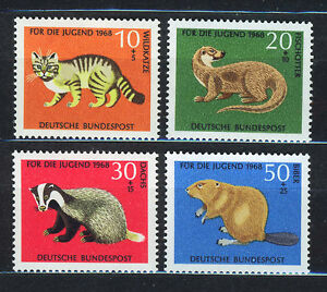 ALEMANIA-RFA-WEST-GERMANY-1968-MNH-SC-B430-B433-Animals