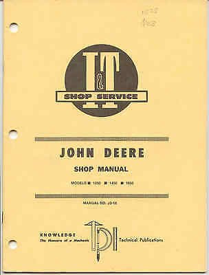 Clever John Deere 1250 1650 Repair Manual Factories And Mines 1450