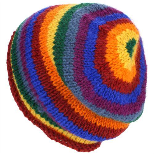 Mütze Kappe Wolle Regenbogen Warm Winter Gefüttert loudelephant Herren Damen