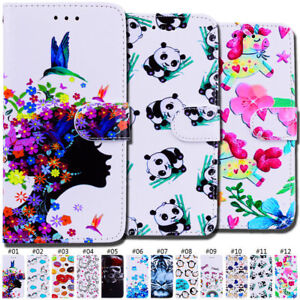 Wallet-PU-Leather-Protective-Painted-Flip-Stand-Case-Card-Slot-Cover-For-Samsung