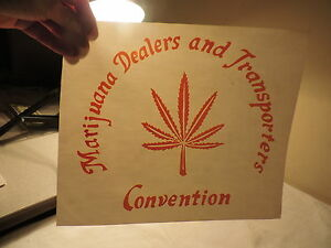 Marijuana's Dealers Transporters Convention IRON ON ROACH T SHIRT TRANSFER 61a