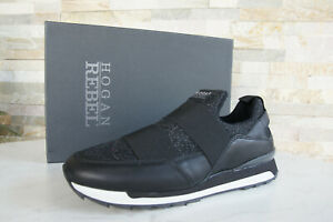 Hogan Rebel Size 38,5 Slipper Slip-On Sneakers Shoes Black New ...