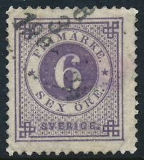 Sweden Scott 44a/Facit 44a, 6ö blue-lilac Ringtyp with posthorn, F+ Used