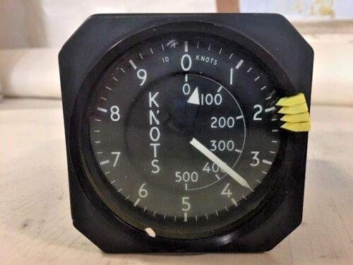 Smiths Aircraft Cockpit Airspeed Indicator Gauge Unit 6610-99-730-9502 EX-MOD