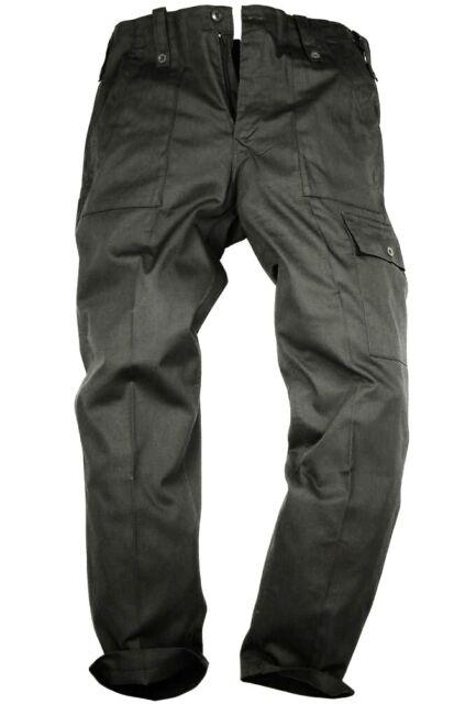PARATROOPER COMBAT CARGO TROUSERS Mens Medium 34w Cotton military black pants